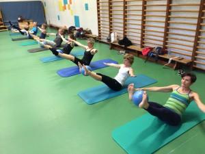 Pilates oefening op de Mat: teaser