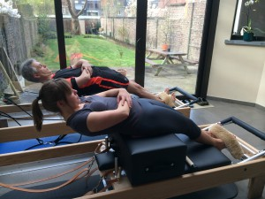 Pilates oefening op Reformer: short box series - the round