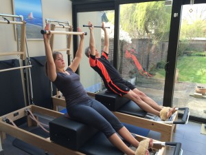 Pilates oefening op Reformer: short box series - the flat