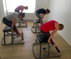 Pilates MVe Chair: tendon stretch