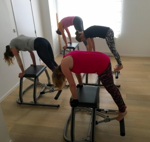 Pilates MVe Chair: side pull-up