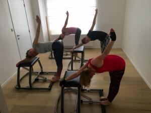 Pilates MVe Chair: twist stretch