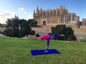 Yoga pose: warrior 3