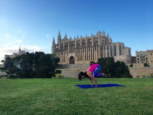 Yoga pose: crow - bakasana