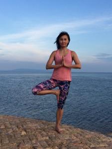 Yoga pose: one legged prayer - Eka Pada Pranamasana