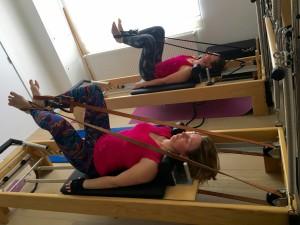 Pilates op Reformer: short spine massage